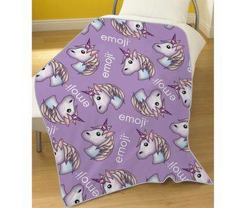 Emoji Fleece plaid Unicorn 100 x 150 cm