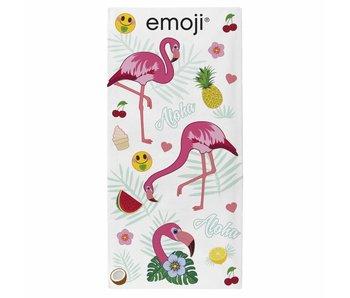 Emoji Strandlaken Flamingos 70 x 140 cm