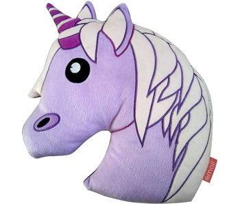 Emoji cushion plush Unicorn 33x42cm