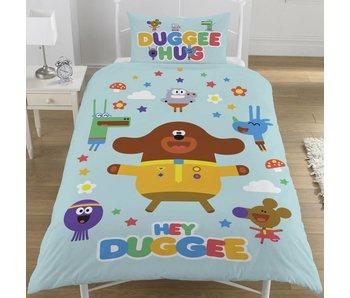 Hey duggee Housse de couette Hello Squirrels seul 135x200 + 50x75cm