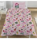Emoji Flamingo - Housse de couette - Seul - 135 x 200 cm - Multi