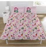 Emoji Flamingo - Dekbedovertrek - Tweepersoons - 200 x 200 cm - Multi