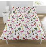 Emoji Flamingo - Housse de couette - Double - 200 x 200 cm - Multi