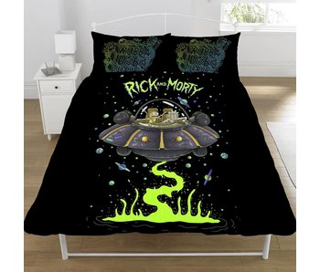 Rick and Morty Housse de couette Ufo Spaceship double 200x200 + 50x75cm
