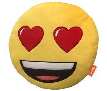 Emoji Cushion 3D plush Heart Eyes 28x28cm