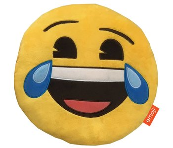 Emoji Cushion 3D plush Happy Tears 28x28cm