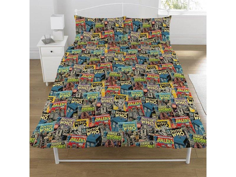 Dr Who Comics - Dekbedovertrek - Tweepersoons - 200 x 200 cm - Multi