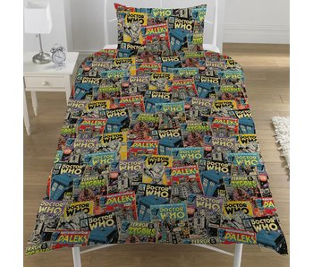 Dr Who Duvet cover Comics single 135x200 + 50x75cm
