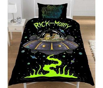 Rick and Morty Bettbezug Ufo Spaceship Einzel 135x200 + 50x75cm