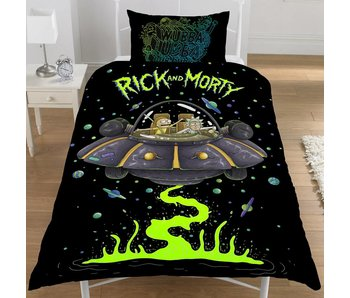 Rick and Morty Duvet cover Ufo Spaceship single 135x200 + 50x75cm