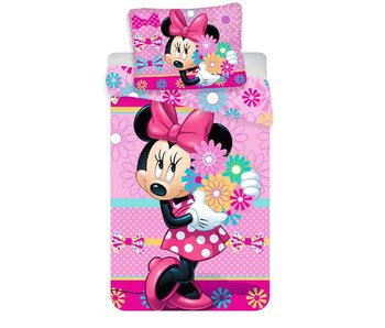 Disney Minnie Mouse Dekbedovertrek Flowers 140x200 + 70x90cm