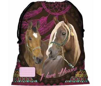 Animal Pictures Gymbag Horses Dreamcatcher