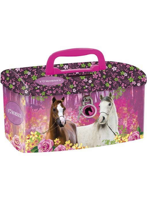 Animal Pictures Money box Horses Forest
