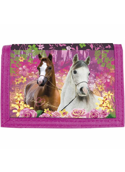 Animal Pictures Wallet Horses Forest