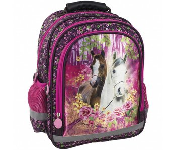 Animal Pictures Backpack 38 cm Horses Forest