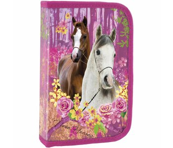 Animal Pictures Empty Pencilcase Horses Forest