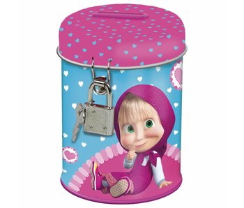 Masha en de Beer Money box Hearts