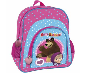 Masha en de Beer Backpack 30 cm Hearts