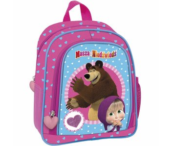 Masha en de Beer Backpack Hearts 25 cm