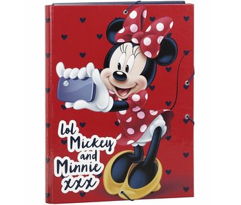 Disney Minnie Mouse Luxe Elastomap A4