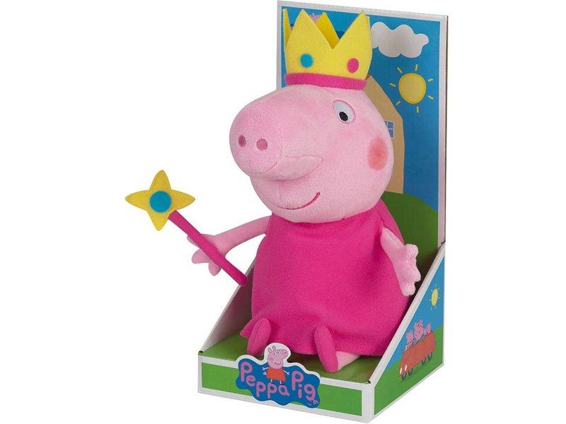 Peppa Pig Princesse - Jouet câlin - 25 cm - Rose