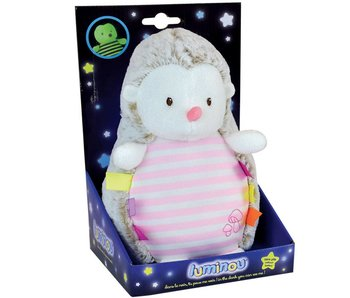 Luminou Glow in the Dark Igel Rosa 21 cm