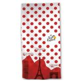 Tour de France Gepunktetes Trikot - Strandtuch - 70 x 140 cm - Rot, Weiß