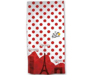 Tour de France Serviette de plage Maillot blanc à Pois rouges 70 x 140 cm