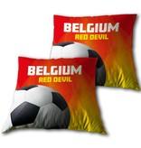 Belgium - Dekokissen - 33 x 33 cm - Rot
