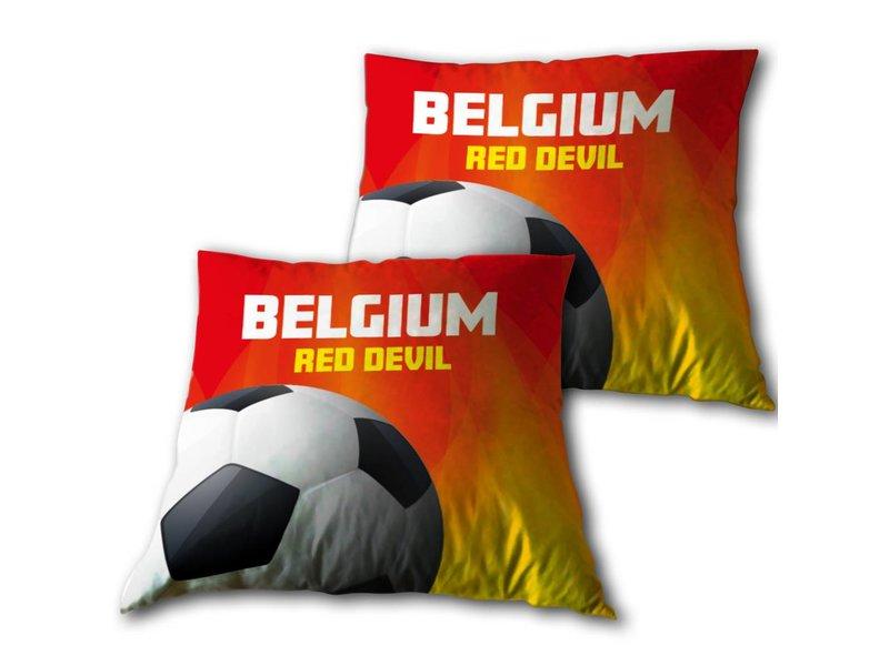 Red Devils Belgium - Sierkussen - 33 x 33 cm - Rood