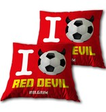 Red Devils - Throw pillow - 34 x 34 cm - Red