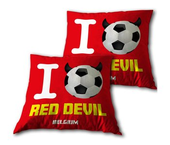 Red Devils Throw pillow 34 x 34 cm