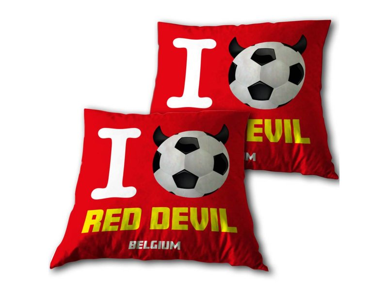 Belgium - Throw pillow - 34 x 34 cm - Red