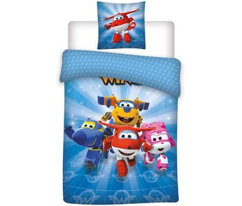 Super Wings Bettbezug Blau