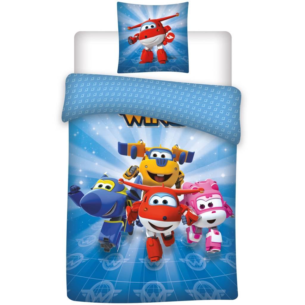 Super Wings beach towel 70 x 140 cm Blue
