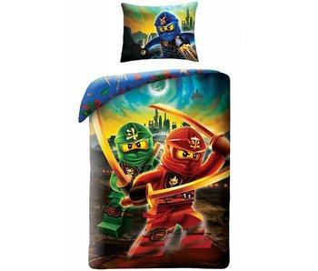 Lego Ninjago Dekbedovertrek Skyline 140x200 + 70x90cm