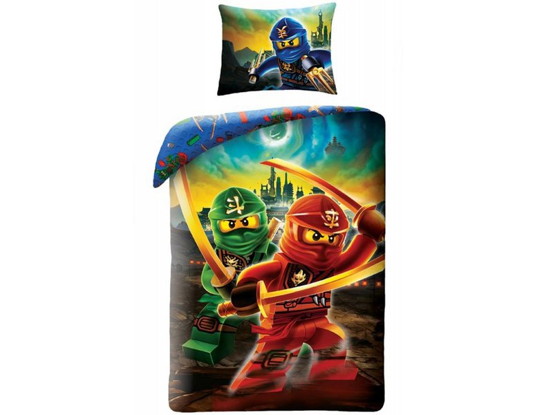 Lego Ninjago Skyline - Duvet cover - Single - 140 x 200 cm - Multi