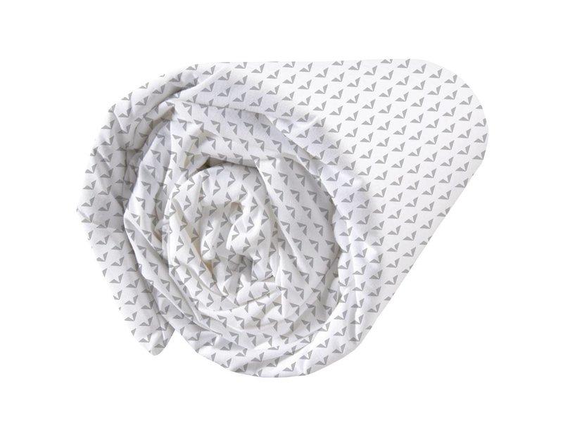 Matt & Rose Envol Graphique - Hoeslaken - Tweepersoons - 160 x 200 cm - Wit, Grijs