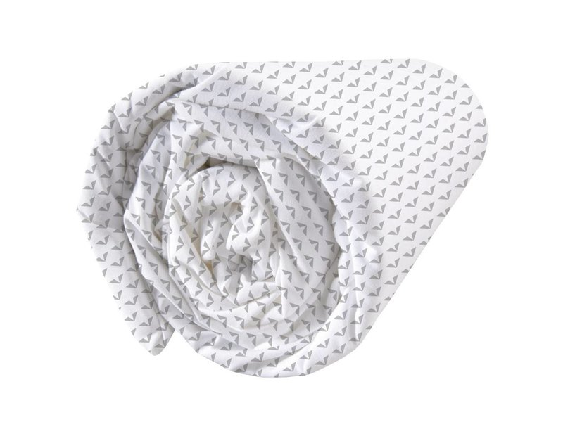 Matt & Rose Envol Graphique - Fitted sheet - Single - 90 x 200 cm - White, Gray