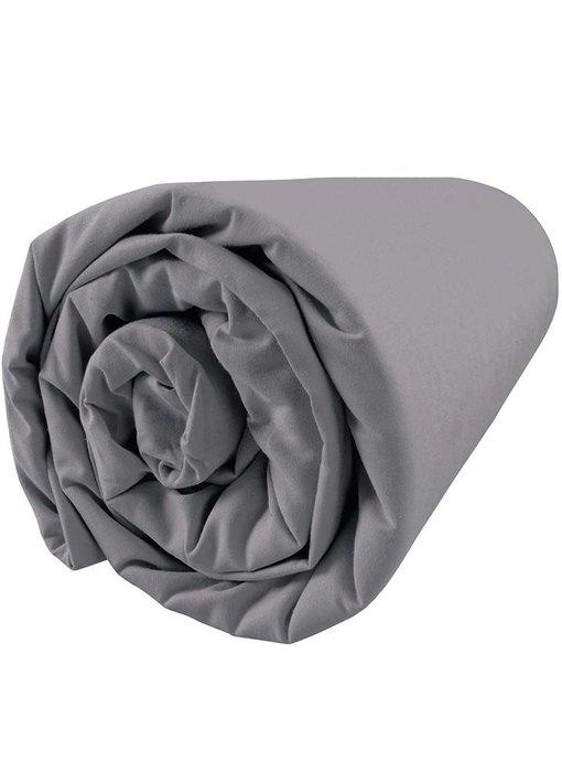Matt & Rose Fitted Sheet Douce Nuit Graphite Grey 140x200 cm