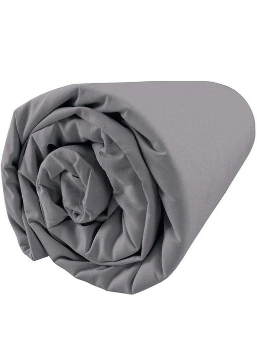 Matt & Rose Fitted Sheet Douce Nuit Graphite Grey 160x200 cm