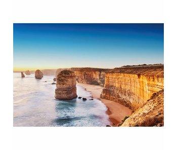 Fotobehang Falaise en Australie 4 parties 368x254cm