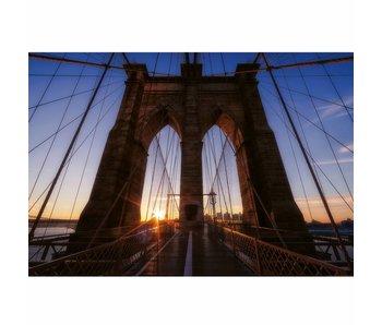 Fotobehang Brooklyn Bridge USA 4 parts 368x254cm