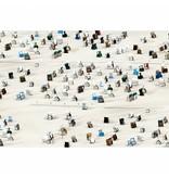 Fotobehang Beach chairs - 4 parts - 368 x 254 cm - Multi