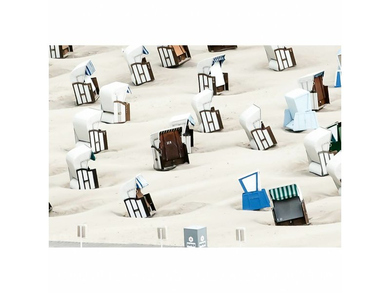 Fotobehang Beach chair - 4 delig - 368 x 254 cm - Multi