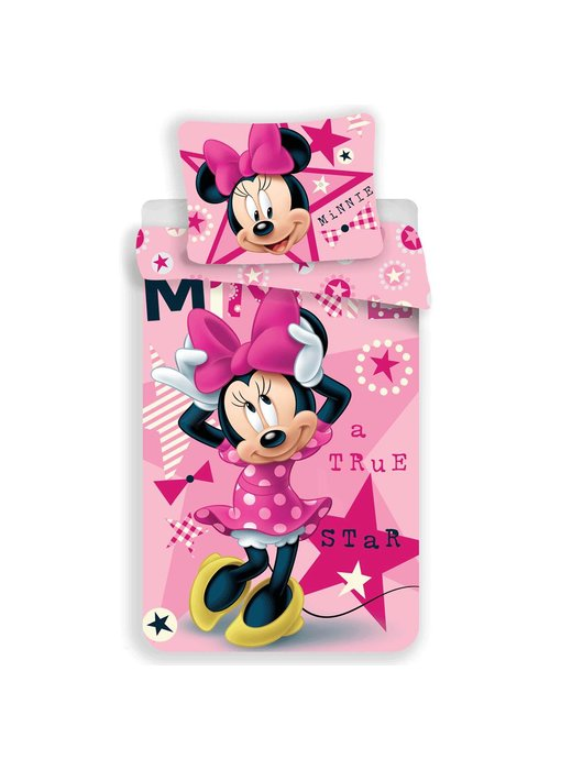 Disney Minnie Mouse Dekbedovertrek Star 140 x 200 cm