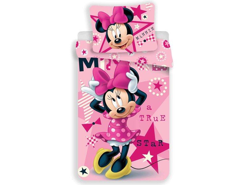 Disney Minnie Mouse Star - Dekbedovertrek - Eenpersoons - 140 x 200 cm - Roze