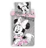 Disney Minnie Mouse Beautiful - Duvet cover - Single - 140 x 200 cm - Grey, Pink