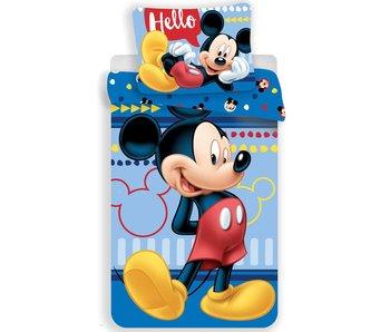 Disney Mickey Mouse Housse de couette Hello 140 x 200 cm