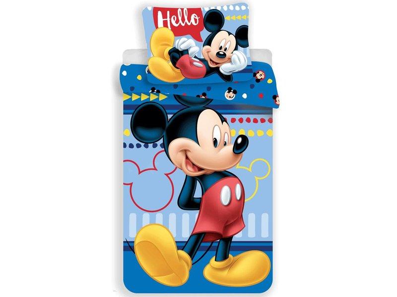 Disney Mickey Mouse Hello - Duvet cover - Single - 140 x 200 cm - Multi